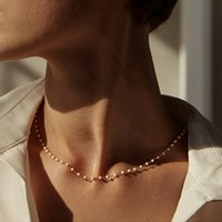15 Style Simple Pearl Bead Chain Choker Necklace Crystal Leaf Tassel Necklace For Women Fashion Sex Jewelry Prom Accessories