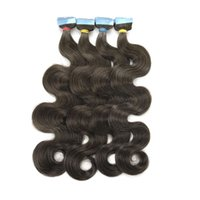 Peruvian 100% Remy Human Hairs Body Wave Tape In Hair Extension 40pcs Per Pack 100 Grams For Women