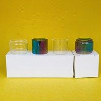 Bolsa de tubo de vidro normal de lâmpada para ijoy illlessless plus 6.3ml RDTA tanque clear arco-íris fatbow tubos de substituição de bolha com 1 pc 3 pcs 10pcs caixa de varejo