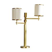 CE CCC Certificate Hotel Hall Restaurant Led Table Lamp with Brass Finish Size 30Inch Tall Modern Bedside Night Light