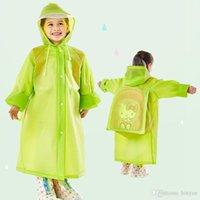 Bolso de la escuela de la escuela impermeable con capucha impermeable EVA impermeables niños Poncho Kids Ropa de lluvia Viaje Abrigo de lluvia Abrigo impermeable Lluvia 5 colores DBC DH0737