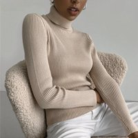 Women's Sweaters 2021 Basic Turtleneck Women Autumn Winter Thick Warm Pullover Slim Tops Soft Ribbed Knitted Sweater Jumper Pull Female