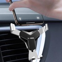 Cell Phone Mounts & Holders Gravity Car Holder For In Air Vent Mount Clip No Magnetic Mobile Stand Support Smartphone Voiture