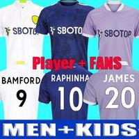 Top Leeds Soccer Jersey United 21 22 Hernandez Poveda Bamford Alioski T.Roberts Raphinha Rodrigo Llorente 2021 2022 Camicia da calcio Costa Meslier Men Kit Kit Uniformi