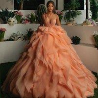 One Shoulder Heavy Ruffles Evening Dress Sequins Puffy Vintage Prom Dresses Women Formal Wear Second Reception Gowns Robes De Soirée