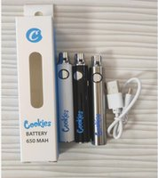 Cookies battery Dabwoods Batteries Pens Carts 510 Preheating Vape Cartridge Battery 650mAh 510 Thread Vape Pens Battery Adjustable Voltage with USB Charger