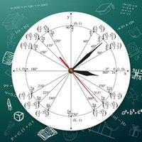Relojes de pared Unidad Círculo Matemáticas Matemáticas Reloj Trigonometría Pre cálculo Geometría Radian Ángulos etiquetados Valores Aula Decoración