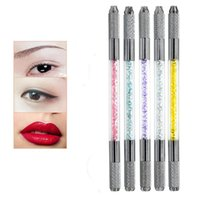 Tattoo Guns Kits 5PCS High Quality Multicolor Double Heads Crystal Microblading Pen Machine Permanent Makeup Eyebrow Manual
