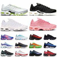 Nike Air Max Plus TN Airmax Vapormax OFF White أحذية الجري النسا كبيرلمتحدة 12  ثلاثية الأسود الأبيض الأرجواني النار الوردي ولدت الأزرق   أحذية رياضية للرجال والنساء أحذية ري