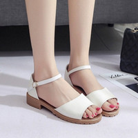 Womens Shoes Summer Flat Beach Sandals Women Open Toed Fish Mouth Word Young Female Girls Student Roman Shoes Wild Ladies B9uZ#