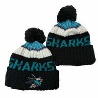 2020 Eishockey Beanie Stickerei Skifahren Strickfrauen Männer Winterkappe Warme Baggy Mützen Strick Bonnet Caps Marke Hüte