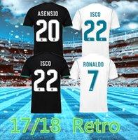 Jersey de football de Madrid Real Madrid 17 18 Bale Benzema Motric T-shirts de football rétro Vintage Isco Maillot Sergio Ramos Ronaldo Camiseta S-2XL