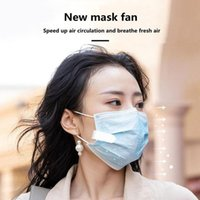 Newest Design mini mask fan with Clips portable USB charging type cute girl silent fan for outdoor travel