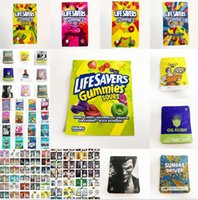 500mg sours gummie worm mylar bags 10.5*10.5cm plastic foil alumination zip smell proof wrapped edibles packaging retail baggie exotics pe pack bag