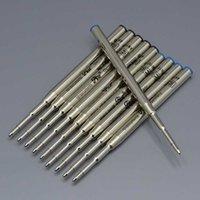 أسود جودة عالية (10 أجزاء / وحدة) / 0.7MM الحبر الأزرق عبوة لحبر القلم القرطاسية الكتابة ملحقات القلم السلس S8SY