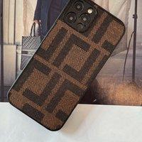 Bez Telefon Kılıfı iPhone11 / 12 Pro Max Kir Dayanıklı F Kahverengi Tasarımcı Klasik Lüks Gösteri Kılıfı Kadın Erkek Erkek Telefon Kılıfları Muhafaza D2109184HL