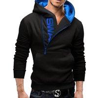 Men's Sweaters 2021 Arrivals Autumn Fashion Men Casual Slim Letter Printing Head Side Zipper 6 Color Cashmere Sweater Male Outerwear Tops