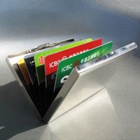 Card Holders Men Stainless Steel Credit ID Mini Wallet Holder Pocket Case Box