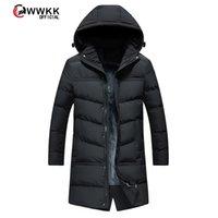 럭셔리 브랜드 남성용 다운 자켓 WWKK 의류 겨울 다운 자켓 남성 비즈니스 긴 두꺼운 코트 단단한 패션 겉옷 따뜻한 남자