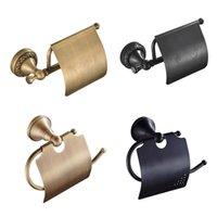 Toilet Paper Holders Brass Roll Napkin Holder Bathroom Shelf For Accessories Storage Organizer