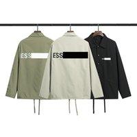 Erkek Ceketler Coat Casual Işık Nefes Windbreak Moda Mektup Baskı Ceket Uzun Kollu Cep Tişörtü Açık Spor Çift Mantolar