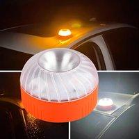 LED 자동차 비상 조명 V16 상 동성 DGT 승인 비콘 충전식 자기 유도 스트로브 라이트 노란색 흰색 색상
