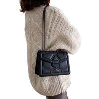 Evening Bags Rivet Chain Brand Designer PU Leather Crossbody For Women 2021 Simple Fashion Shoulder Bag Lady Luxury Small Handbags