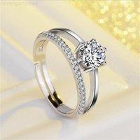 CT الولايات المتحدة الأمريكية GIA شهادة 0.6 سونا الماس تشيكوسلوفاكيا خواتم الزفاف ديامانت للنساء قابل للتعديل الحجم
