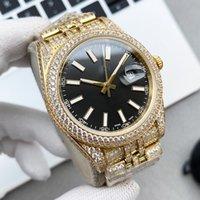 Mens Watch Automatic Mechanical Watches Sapphire 41mm Strap Diamond-studded Steel Women Wristwatch Montre De Luxe Full Diamond High Quality