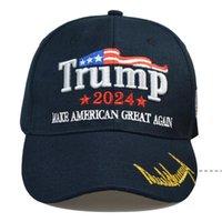 최신 트럼프 야구 모자 미국 대통령 선거 TRMUP 동일한 스타일 모자 Ambroidered 포니 테일 볼 캡 해상 해운 EWB5271