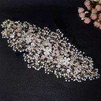 Trixy H240-G оптом потрясающий свадебный головной головной горный хрусталь Свадебные аксессуары для волос Bridal Crown роскошная свадьба корона и тиара
