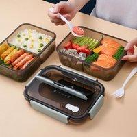 Conjuntos de louças TUUTH Microondas almoço de lanchão Bento Sandwich Salad Recipiente de armazenamento para crianças Piquenique de escritório escolar