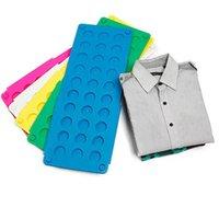 Camisa da placa dobrável camiseta do dobrador Fácil e rápido para o miúdo dobrar a roupa de dobradura das placas de dobramento Dobradores da lavanderia Flipfold Cor aleatória