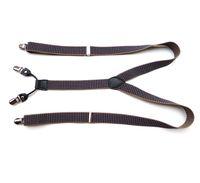 Preto Verifique as placas elasticadas com clipes de metal adultos vestido fantasia acessório unisex calças ajustável y-back suspensórios