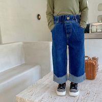 Jeans 2021 Arrival Girls Boys Denim Long Pants Autumn Fashion Kids Jean 1-7 Years WD310