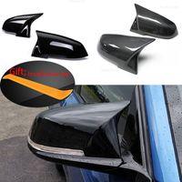 2 أجزاء مرآة الرؤية الخلفية غطاء كاب الكربون الأسود لسيارات BMW سلسلة 1 2 3 4 x m 220i 328i 420i f20 f21 f22 f23 f30 f32 f33 f36 x1