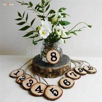 10 pz Tavolo in legno Numeri Titolare Direzione Direzione Direzione Direzione Forniture rustiche Centerpieces per la decorazione di nozze Numero