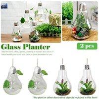Vazolar Avrupa Asılı Cam Vazo Ampul Şekilli Etli Bitkiler Çiçek Su / Toprak Dikim Pot Ev Dekorasyonu