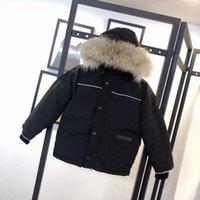 Дети вниз пальто зимний мальчик девушка детская верхняя одежда куртки для подростков одежда с капюшоном густые теплые валики для белья пальто детей носить пиджак мода классические паки 5 цветов 100-150