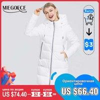 MIEGOFCE 2021 Новая зимняя женская куртка длинная тепловая куртка для куртки в стоять воротник с капюшоном холодное теплое пальто, ветрозащитный Parkas H0830