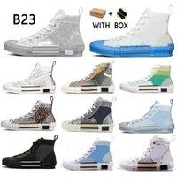 2021 B23 Tasarımcı Sneakers Obliques Rahat Ayakkabılar Teknik Deri Yüksek Düşük Çiçekler Platformu Açık Vintage Boyutu 36-45 #efgt