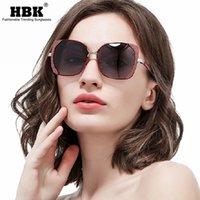Sonnenbrille HBK 2021 Vintage Quadratische Frau Männer Polarisierte Übergroße Fahrreisen Sonnenbrille Retro Brillen UV400