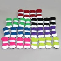 Breathable Dog Apparel Boots Mesh Dogs Shoes with Adjustable Straps Non-Slip Soft Sole Puppy Paw Protector Boot for Small Medium Sized Dogg Daily Walking 4 Pcs Set A12