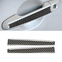 For Toyota 86 Subaru BRZ 2012-2020 Carbon Fiber Car Accessories Gate Door Handle Trim Frame Sticker Cover Exterior Decoration
