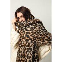 Luxury Leopard Winter Sciarpa Donne Cashmere Spessore Coperta Calda Calda Scialli Lunghi Involucri Lady Tassel Sciarpe Femminile Foulard