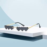 Kadın Güneş Gözlüğü Çerçevesiz Güneş Gözlüğü Bayan Plaj Moda Gözlük UV400 7 Renk Kaliteli