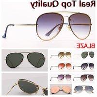 Caixa das mulheres do piloto Blaze Aviation Sunglass Varejo Sol e acessórios! Caixa de couro de proteção de moda de lentes de óculos de sol, óculos grátis al cwro