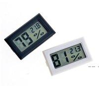 أسود / أبيض FY-11 مصغرة الرقمية LCD بيئة ميزان الحرارة الرطوبة الرطوبة متر في الغرفة ثلاجة البحر الشحن EWC6522
