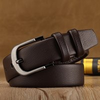 Simple Fashion Men's Needle Buckle Belt PU Leather Casual Men Belt Brown Black Belts for Men PD004