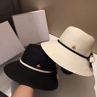 21ss Sıcak Yeni Katlanabilir Tatil Plaj Şapkalar Yüksek Kaliteli Güneş Şapka Bayan Geniş Ağız Şapka Gelgit 2 Renkler Kova Şapka Balıkçı Şapkalar